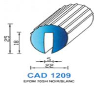 CAD1209N Profil EPDM   70 SH Noir