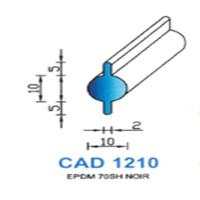 CAD1210N Profil EPDM <br /> 70 SH Noir<br />