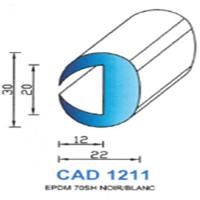 CAD1211N Profil EPDM   70 SH Noir