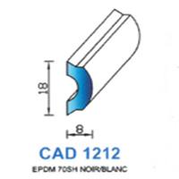 CAD1212B Profil EPDM   70 SH Blanc