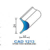 CAD1213B Profil EPDM   70 SH Blanc