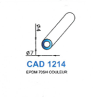 CAD1214N Profil EPDM   70 SH Noir