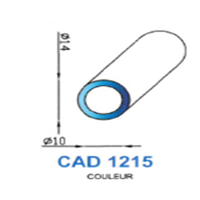 CAD1215B Profil EPDM   70 SH Blanc
