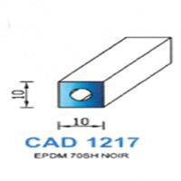 CAD1217N Profil EPDM <br /> 70 SH Noir<br />