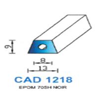 CAD1218N Profil EPDM   70 SH Noir