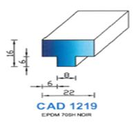 CAD1219N Profil EPDM <br /> 70 SH Noir<br />
