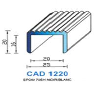 CAD1220B Profil EPDM <br /> 70 SH Blanc<br />
