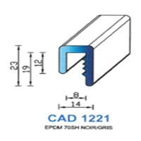 CAD1221G Profil EPDM <br /> 70 SH Gris<br />