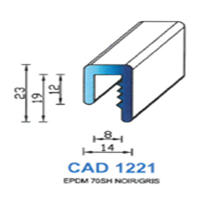 CAD1221N Profil EPDM   70 SH Noir