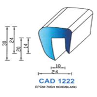 CAD1222B Profil EPDM   70 SH Blanc