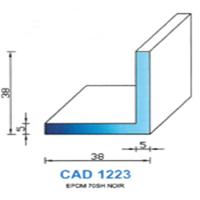 CAD1223B Profil EPDM <br /> 70 SH Blanc<br />