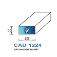 CAD1224B Profil EPDM   60 SH Blanc
