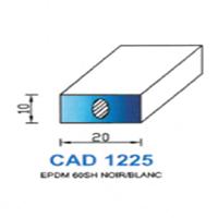 CAD1225B Profil EPDM   60 SH Blanc