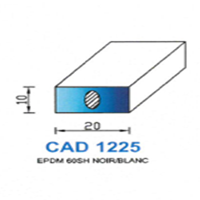 CAD1225N Profil EPDM <br /> 60 SH Noir<br />