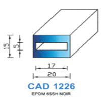 CAD1226N Profil EPDM   65 SH Noir