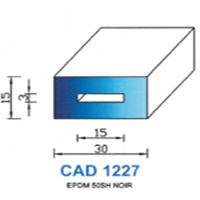 CAD1227N Profil EPDM <br /> 50 SH Noir<br />