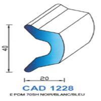 CAD1228C Profil EPDM   70 SH Bleu