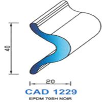 CAD1229N Profil EPDM   70 SH Noir