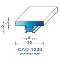 CAD1230N Profil EPDM   65 SH Noir