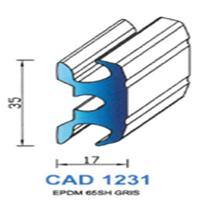 CAD1231G Profil EPDM   65 SH Gris