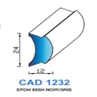 CAD1232N Profil EPDM   65 SH Noir
