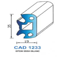 CAD1233B Profil EPDM   65 SH Blanc