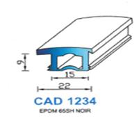 CAD1234N Profil EPDM   65 SH Noir