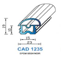 CAD1235N Profil EPDM   65 SH Noir