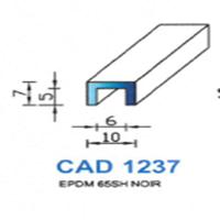 CAD1237N Profil EPDM   65 SH Noir