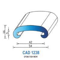 CAD1238N Profil EPDM   70 SH Noir