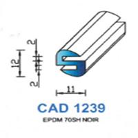 CAD1239N Profil EPDM   70 SH Noir