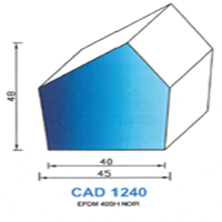 CAD1240N PROFIL EPDM - 40SH - NOIR