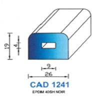 CAD1241N Profil EPDM   40 SH Noir