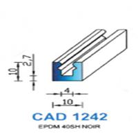 CAD1242N Profil EPDM   40 SH Noir