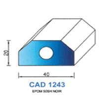 CAD1243N Profil EPDM   50 SH Noir