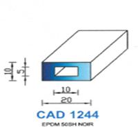 CAD1244N Profil EPDM   50 SH Noir   Vendu au Mètre