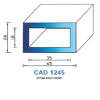 CAD1245N Profil EPDM   60 SH Noir
