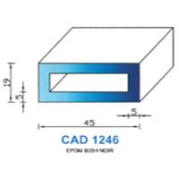 CAD1246N Profil EPDM   60 SH Noir