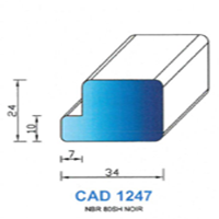 CAD1247N Profil NBR   80 SH Noir