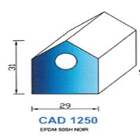 CAD1250N Profil EPDM <br /> 50 SH Noir <br /> Vendu au Mètre<br />