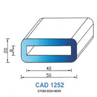 CAD1252N Profil EPDM   65 SH Noir