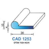 CAD1253N Profil EPDM   70 SH Noir