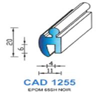 CAD1255N Profil EPDM   65 SH Noir
