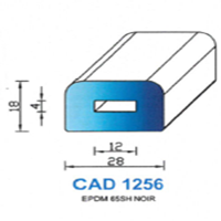 CAD1256N Profil EPDM   65 SH Noir
