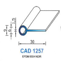 CAD1257N Profil EPDM   65 SH Noir