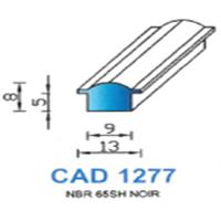 CAD1277N Profil EPDM   65 SH Noir