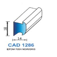 CAD1286N Profil EPDM   70 SH Noir   Vendu au Mètre