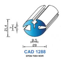 CAD1288N Profil EPDM   70 SH Noir