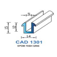 CAD1301N Profil EPDM <br /> 70 SH Noir<br />