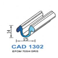 CAD1302G Profil EPDM   70 SH Gris